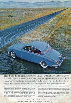 1960 Jaguar Sports Sedan Advertisement Sports Car Illustrated January 1960