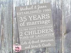 35th wedding anniversary gift ideas for parents u2026 pinteresu2026