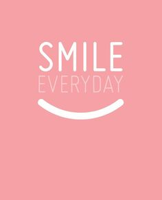 Smile is the sexiest curve on your body! Give someone on the street today a smile and feel your insides shine! It's when you shine deep within your core that makes you feel and look good!