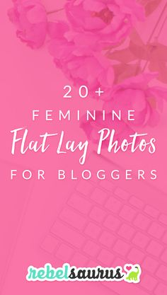 I'm obsessed with the trend of these gorgeous, feminine flat lay photos that lots of bloggers and online entrepreneurs are using these days for blog post images and social media promo images.  They're perfect for creating beautiful branding on your website and online presence.  Some people even fill their whole Instagram feed with styled feminine stock photos!