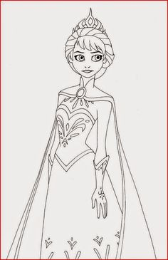 Elsa From Frozen Free Printable Coloring Pages