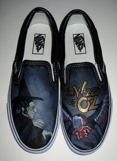 Wizard Of Oz Vans Custom Vans Shoes by stabbyvonkillerstein, $179.99