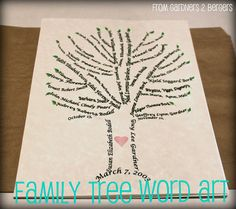 from Gardners 2 Bergers: Family Tree Word Art [Tutorial]