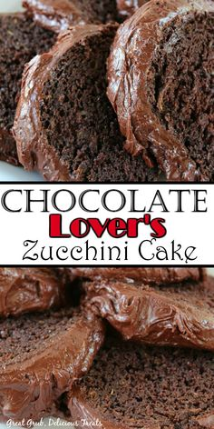 Chocolate Lover's Zucchini Cake is moist, delicious, homemade and a decadent chocolate cake everyone will love. Easy Chocolate Desserts, Decadent Chocolate Cake, Köstliche Desserts, Homemade Chocolate, Chocolate Recipes, Dessert Recipes, Chocolate Lovers, Breakfast Recipes, Zuchinni Cake Recipes