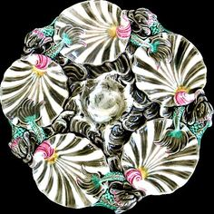 Wedgwood Majolica Antique Oyster Plate