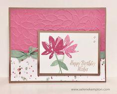 Create with Selene: Stampin Up Avant Garden, Happy Birthday Wishes
