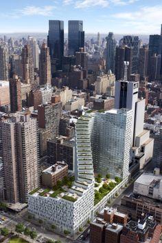 Жилой комплекс Clinton Park займет целый квартал в районе Одиннадцатой авеню. Проект 2006 года. Архитектор Энрике Нортен.