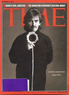 Time Magazine with George Harrison