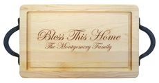 Maple 16 inch Rectangle Personalized Cutting Board #StationeryStudio