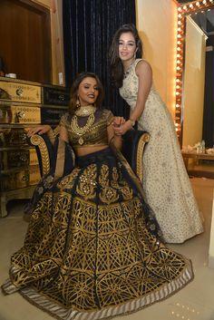 Bloggers Tina and Aaliya dressed as the bride and bridesmaid in JJ Valaya