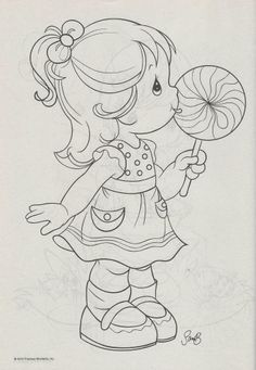 niña con piruleta