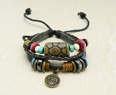 Adjustable  hipster jewelry leather bracelet with by goodlucky, $6.90