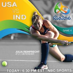 One team with one dream. It's ‪#‎Rio2016‬ GAME DAY! USA vs IND || Broadcast 6:30 p.m. EST on NBC Sports Networks To sound like a pro and get your mind right for today's big showdown, here are a few key details you'll want to review before the starting whistle blows.