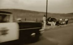 Probably CHP Investigation image? & James Dean car -he had received a speeding ticket just 2 hrs before ...