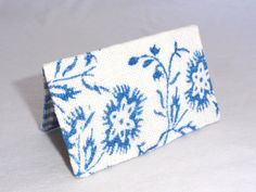 Blue and White Floral Business Card Holder or Credit by ShastaBlue, $8.00