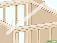 How to Cut Roof Rafters. If you're framing a gable roof on a new house, or building a shed or even a doghouse with a gable roof, you'll need to cut a number of roof rafters. The roof rafters provide integral structural support to the roof. Gable Roof Design, Roof Truss Design, Framing Construction, Shed Construction, Wood Shed Plans, Diy Shed Plans, Shed Roof, House Roof, Gazebo Roof