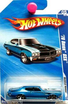 1970 Buick GSX Hot Wheels 2010 Muscle Mania #05/10 Blue Hot Wheels Logo On Side