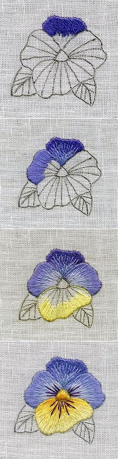 Master class on embroidery satin stitch.