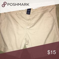 Tan Shorts These tan shorts have been worn twice and are very comfortable. They are in excellent shape and perfect to be paired with whatever you can imagine. Shorts