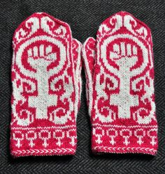 Feministvantar, mönstret Gudrun. Clara stickar via Bloglovin.com