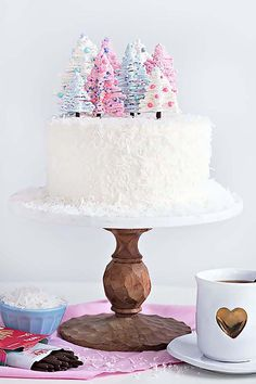 Chocolate Coconut Winter Wonderland Cake - A. - Chocolate Coconut Winter Wonderland Cake – A. Christmas Sweets, Christmas Cooking, Christmas Goodies, Holiday Baking, Christmas Desserts, Holiday Treats, Christmas Cakes, Christmas Breakfast, Chocolate Christmas Cake