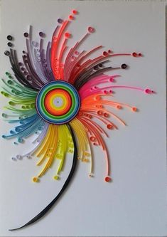 Quilling paper art Modern paper art Bright colours wall decoration modern home d. Quilling paper a Paper Quilling Patterns, Quilled Paper Art, Quilling Paper Craft, Paper Crafts, Quilling Ideas, Paper Wall Decor, Art Decor, Metal Tree Wall Art, Wood Wall