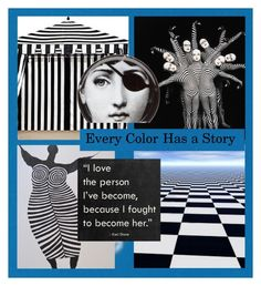 """Every Color Has a Story"" by juxtaposejane ❤ liked on Polyvore featuring art"
