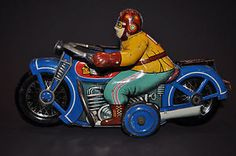 I.Y.Metal Toys INDIAN Tin Motorcycle 1950's Japan...RARE BIKE | eBay