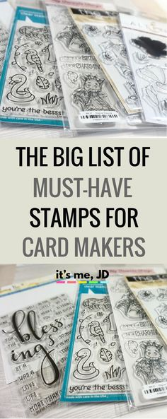 The Big List of Must-Have Stamps for Card Makers, card making ideas, tips, techniques, tutorials, beginner