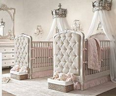 I love the princess crown canopy over the crib.