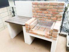 Amazing Ideas for Small Backyard Landscaping - My Backyard ideas Barbecue Design, Grill Design, Barbecue Garden, Brick Bbq, Fire Pit Grill, Bokashi, Kitchen Decor Themes, Home Decor, Diy Porch