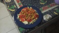 Insalata finocchi,pompelmo, noci e pistacchi