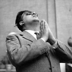 Italian master-director and scriptwriter Federico Fellini, March 1955.