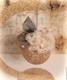 """Новый год 2016 ручной работы. Ярмарка Мастеров - ручная работа. Купить Новогодний шар """"La toison d'or"""". Handmade. Золотой"""