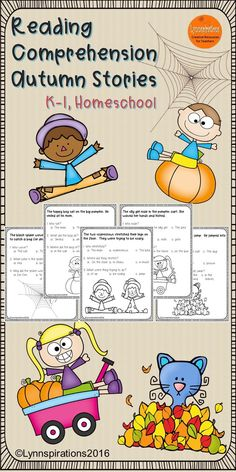Autumn Stories Reading Comprehension for k-1