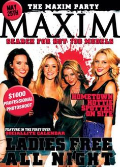"""MAXIM """"Hometown Hotties"""" Party May 25th"""