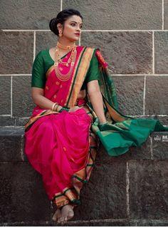 Nose Ring Jewelry, Nauvari Saree, Housewife, Indian Beauty, Desi, Sarees, Bangles, Blouses, Culture