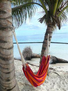 lazy day.. Tropical island beach paradise hammock #hammock #paradise