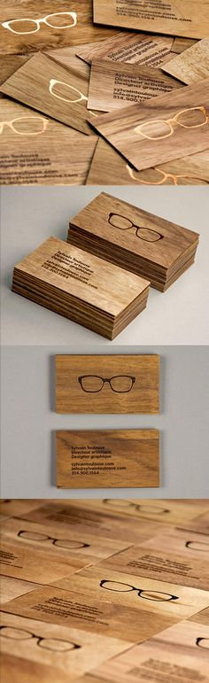 Stylish Laser Engraved Wooden Business Cards | Business Cards | The Design Inspiration