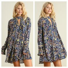 Falling For You Floral Swing Dress $44.00 at www.shopbelovedboutique.com