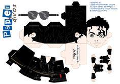 paperdivas – Rabisco Pop - Página 19 Michael Jackson Party, Michael Jackson Vinyl, 3d Paper Crafts, Paper Toys, Paper Art, Origami, Eighties Party, Papercraft Anime, Papercraft