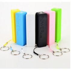 Batterie NOIRE chargeur de secours power bank USB 2600mAh