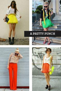 #brights #neon #fashion #street #style #fashion