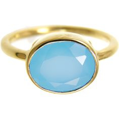 Blue Chalcedony Ring ($45) ❤ liked on Polyvore featuring jewelry, rings, blue chalcedony jewelry, chalcedony jewelry, blue ring, chalcedony ring and blue jewelry