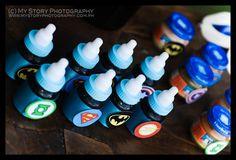 Superhero baby bottle drinks