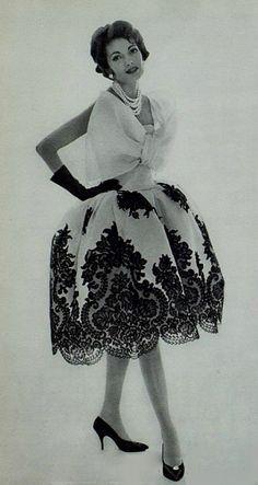 Image result for lanvin-castillo evening dress 1958 vogue