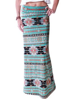 """- Poly Spandex Fold Over High Waist Printed Maxi Skirt. Soft Fabric. Comfy Style. Easy Flowing Material. - Approximate Measurements Before Stretch [Small - Waist: 24"""" Length : 42""""] [Medium - Waist: 26"""