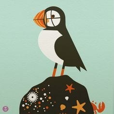 Indie Artists: Puffin Screen Print.