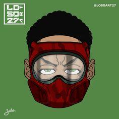 Lil Uzi Vert Cartoon, Black Cartoon, Dope Cartoons, Dope Cartoon Art, Black Girl Art, Art Girl, Supreme Iphone Wallpaper, Black Art Pictures, Joker Wallpapers