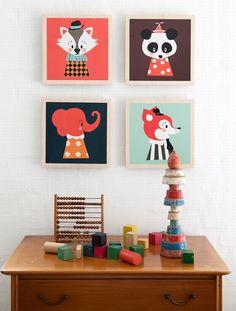 Tableau marionnettes pour enfant de la marque Ferm Living. http://www.goodobject.me/cadres/549-tableau-marionnette-ferm-living.html